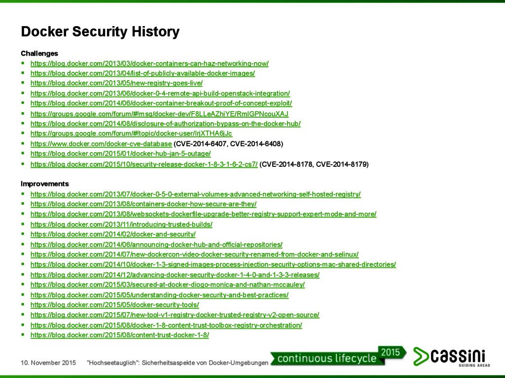 Docker Security History Challenges § https://b...