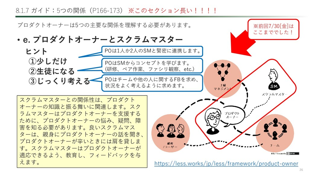 26 8.1.7 ガイド:5つの関係(P166-173) ※このセクション長い!!!! • e...