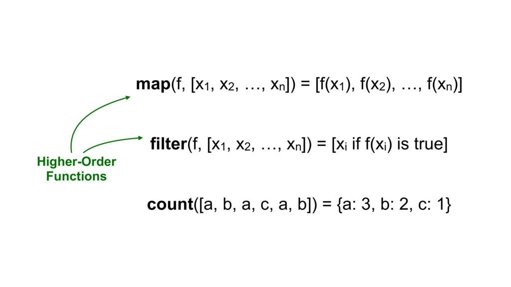 map(f, [x1, x2, …, xn]) = [f(x1), f(x2), …, f(x...