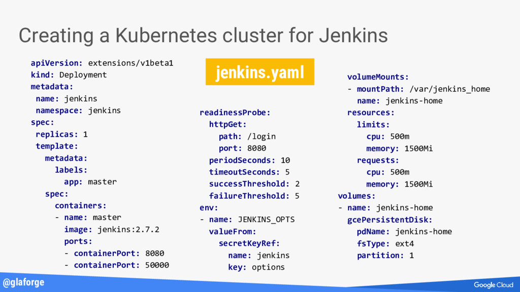 @glaforge Creating a Kubernetes cluster for Jen...