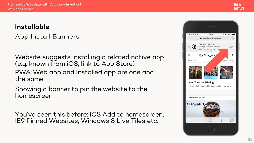 App Install Banners Website suggests installing...