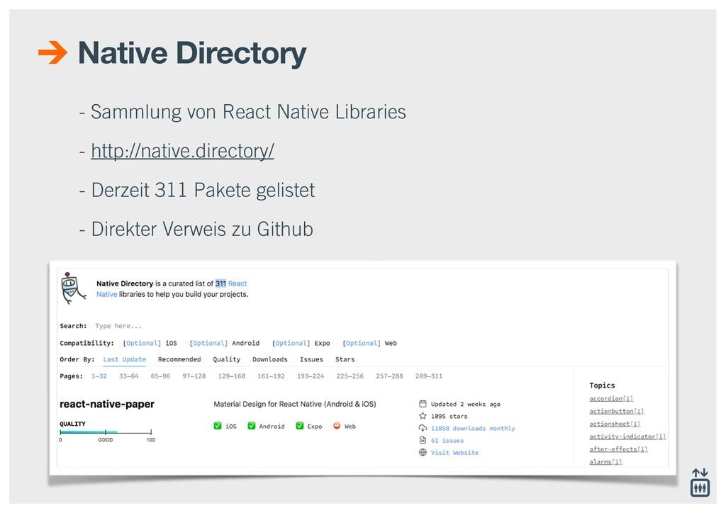 Native Directory - Sammlung von React Native Li...