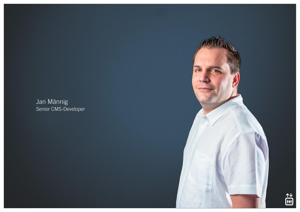 Jan Männig Senior CMS-Developer