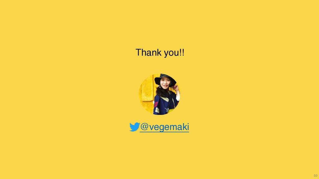 59 Thank you!! ɹɹ ɹ@vegemaki