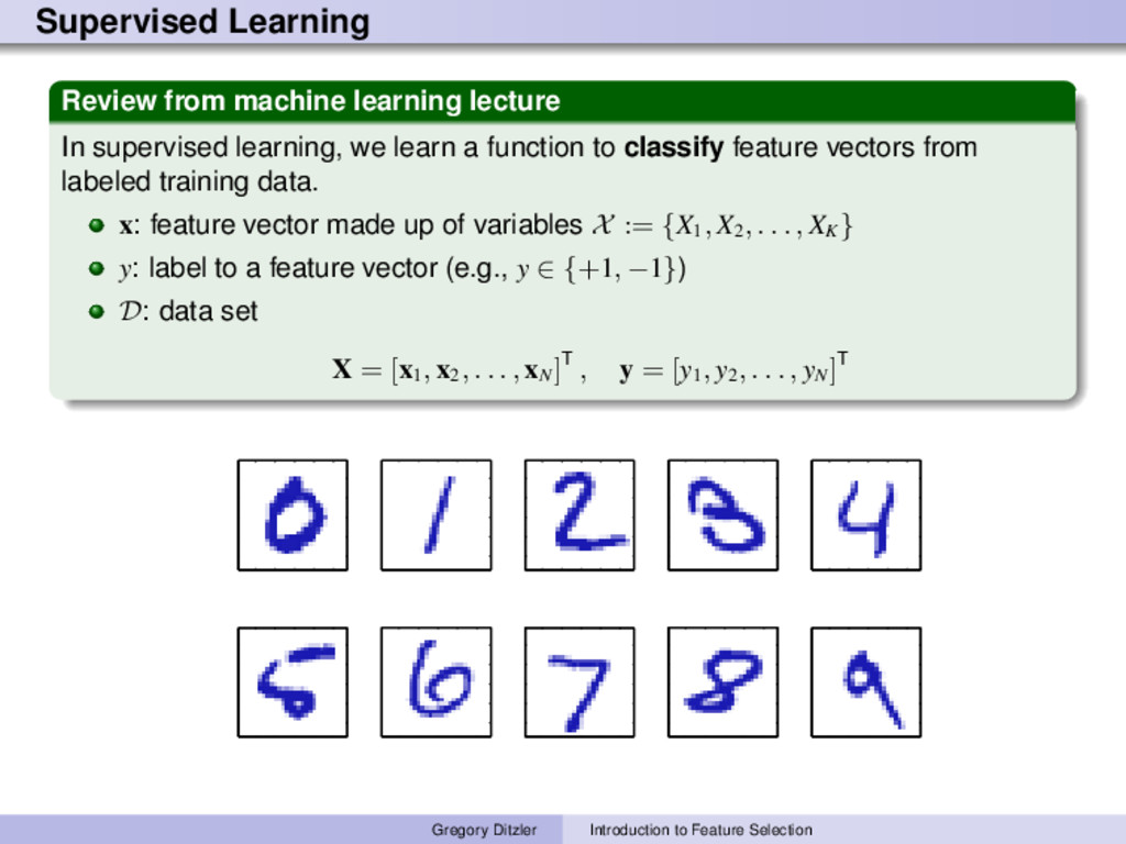 Supervised Learning Review from machine learnin...
