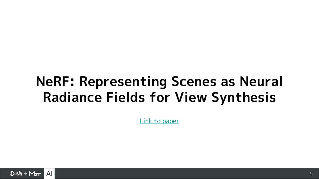5 NeRF: Representing Scenes as Neural Radiance ...