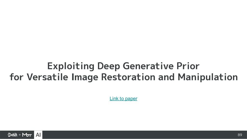 Exploiting Deep Generative Prior for Versatile ...