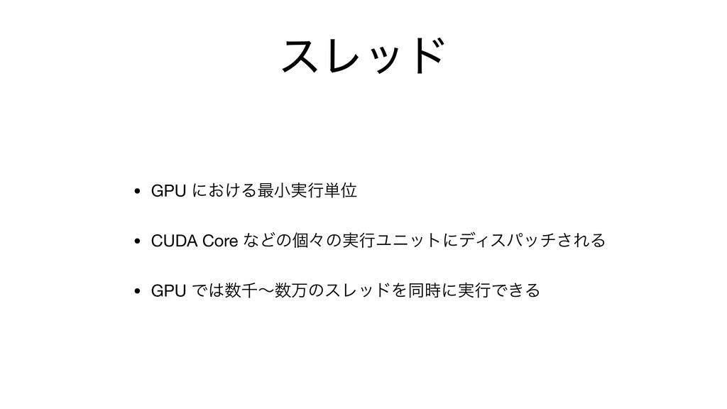 εϨου • GPU ʹ͓͚Δ࠷খ࣮ߦ୯Ґ  • CUDA Core ͳͲͷݸʑͷ࣮ߦϢχοτ...