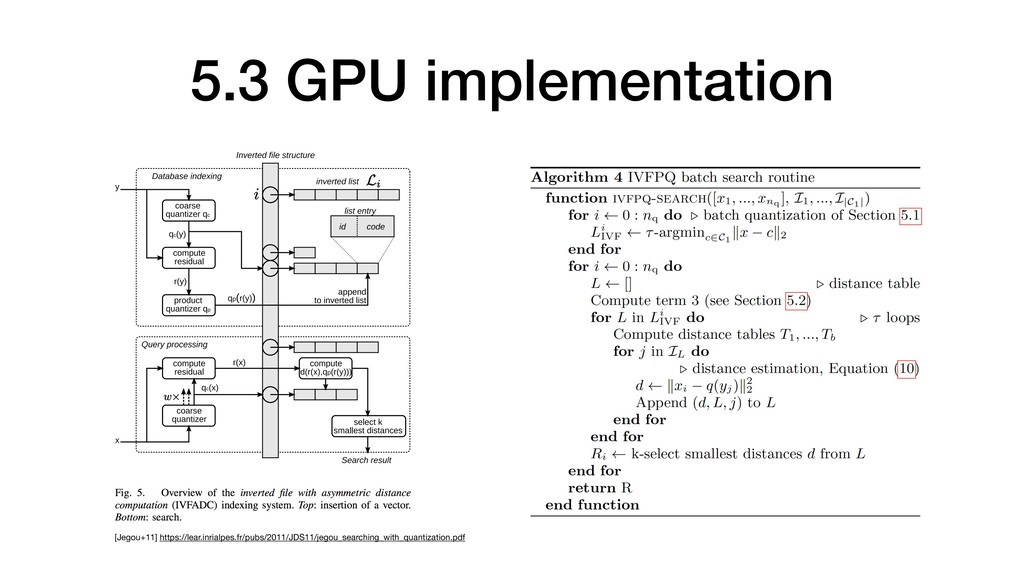 5.3 GPU implementation [Jegou+11] https://lear....