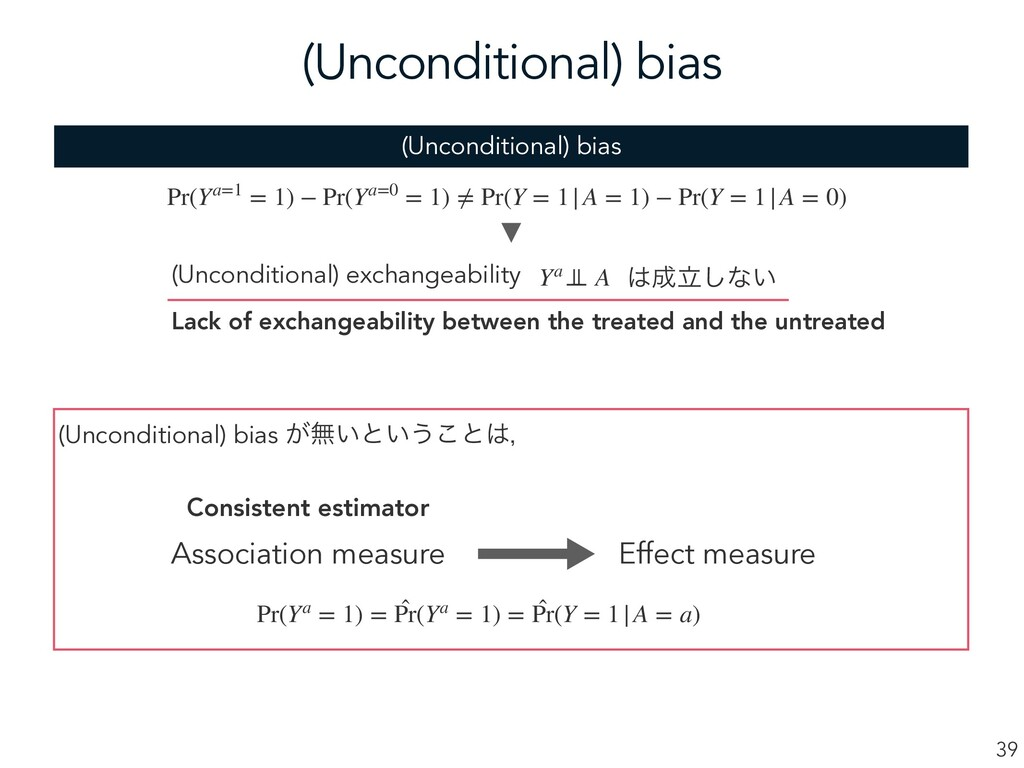 (Unconditional) bias 39 (Unconditional) bias ͕ແ...