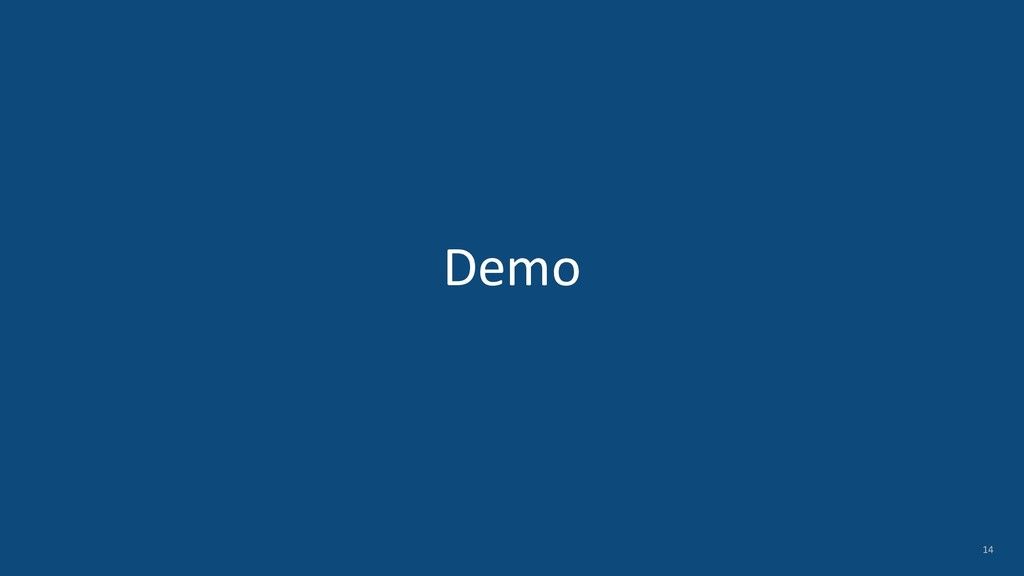 Demo 14