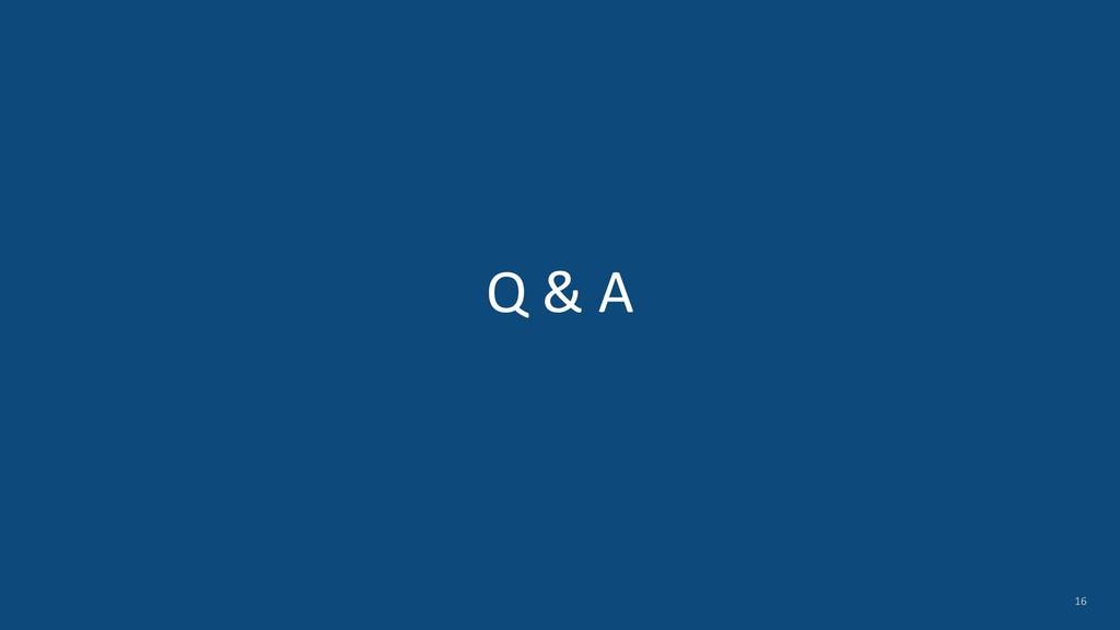 Q & A 16
