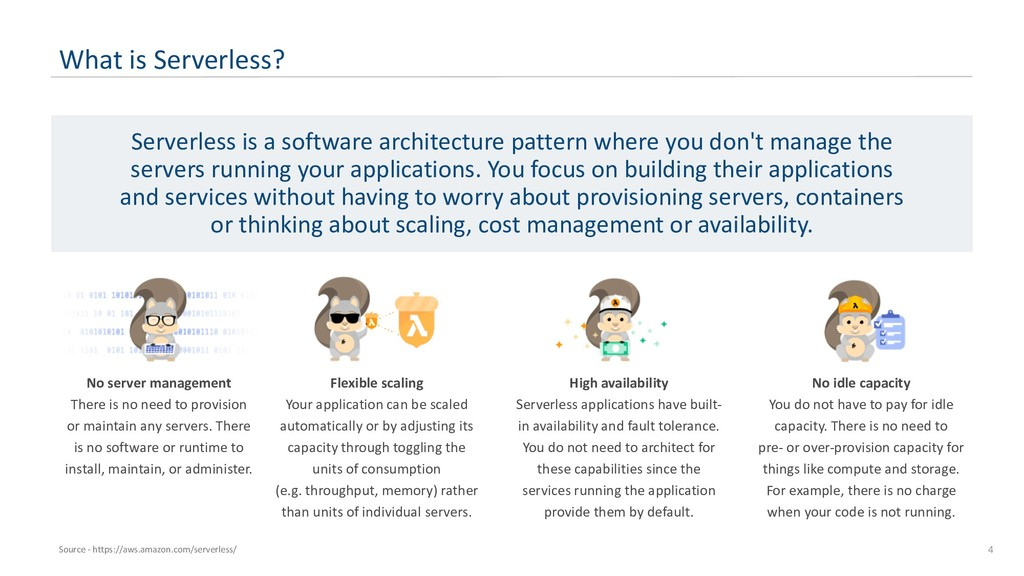 4 What is Serverless? Serverless is a software ...