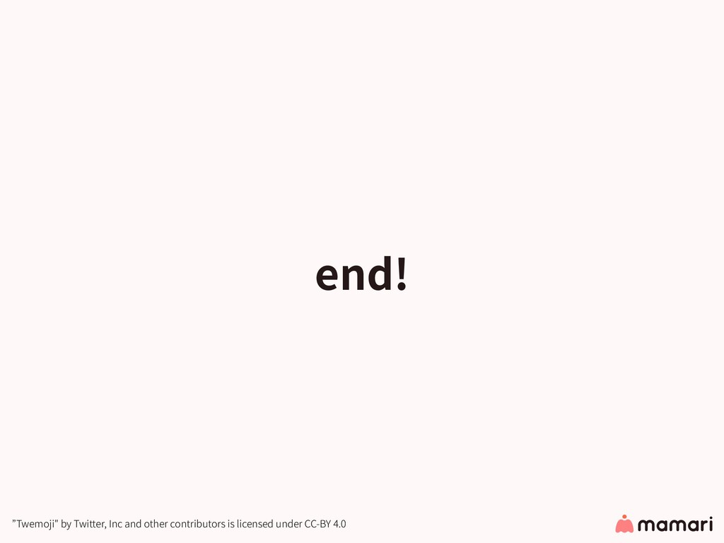 "end! ""Twemoji"" by Twitter, Inc and other contri..."