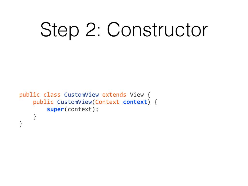 Step 2: Constructor public class CustomVi...