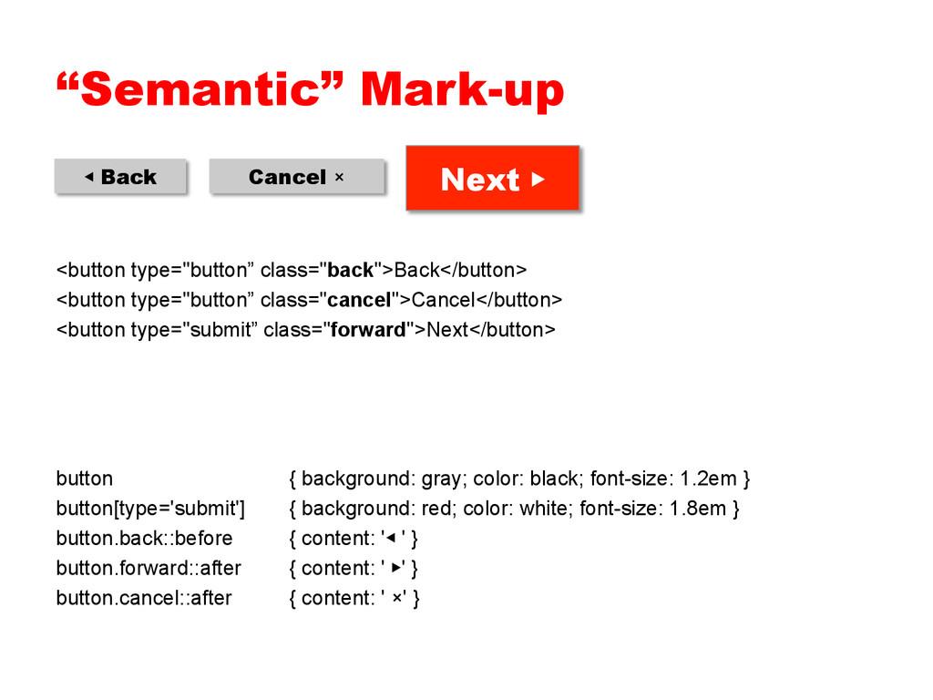 """Semantic"" Mark-up <button type=""button"" class=..."