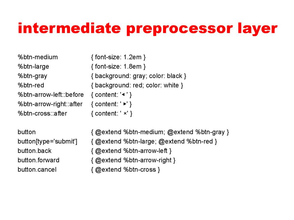 intermediate preprocessor layer %btn-medium { f...