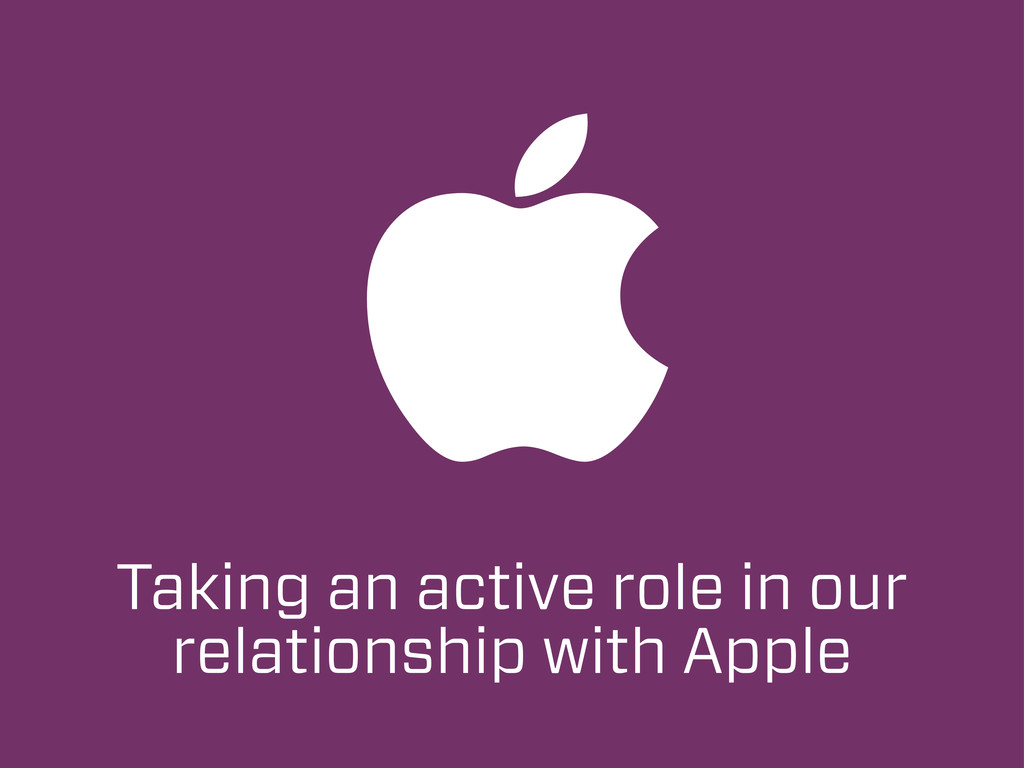Taking an active role in our relationship with ...