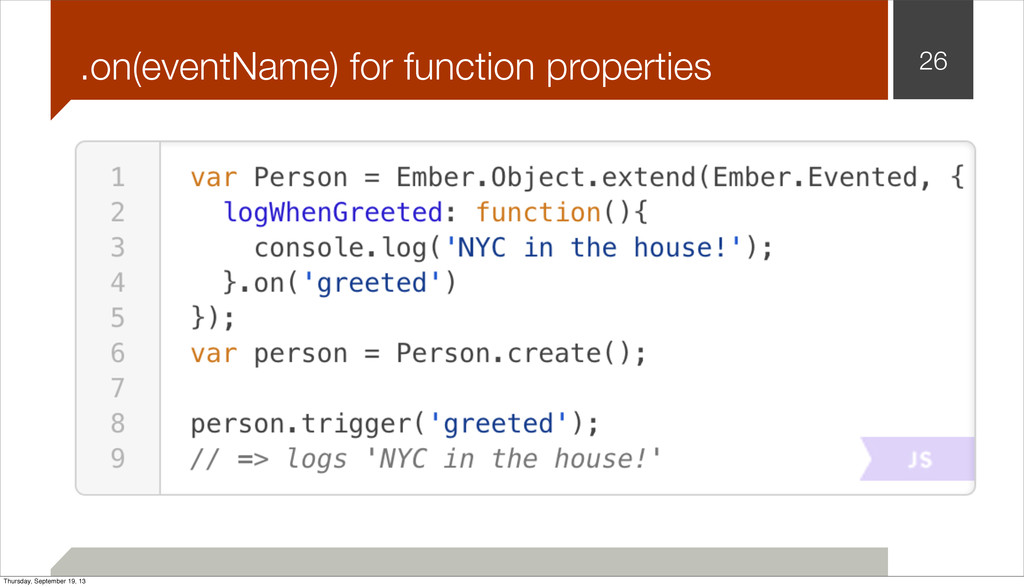 .on(eventName) for function properties 26 Thurs...