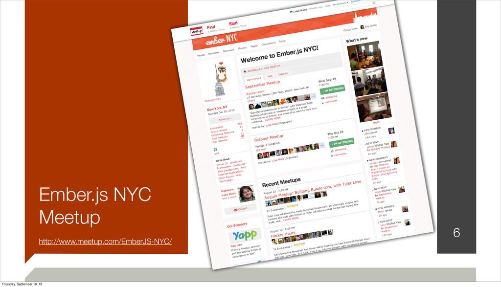 Ember.js NYC Meetup http://www.meetup.com/Ember...
