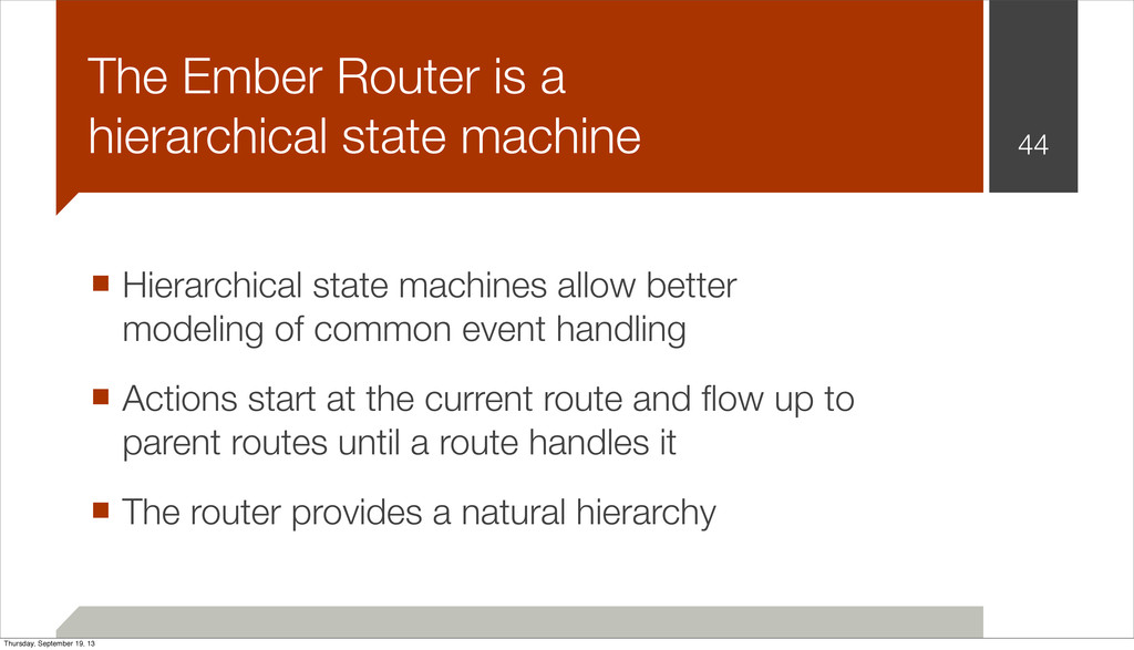44 The Ember Router is a hierarchical state mac...