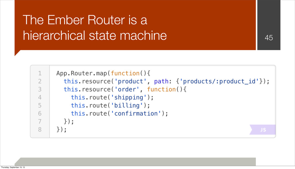 45 The Ember Router is a hierarchical state mac...