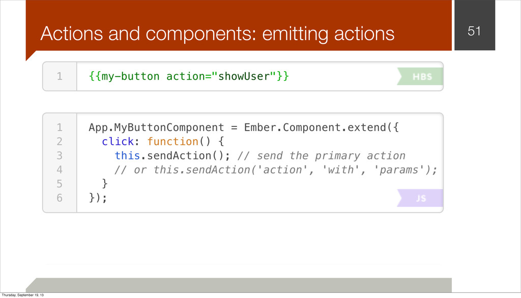 Actions and components: emitting actions 51 Thu...