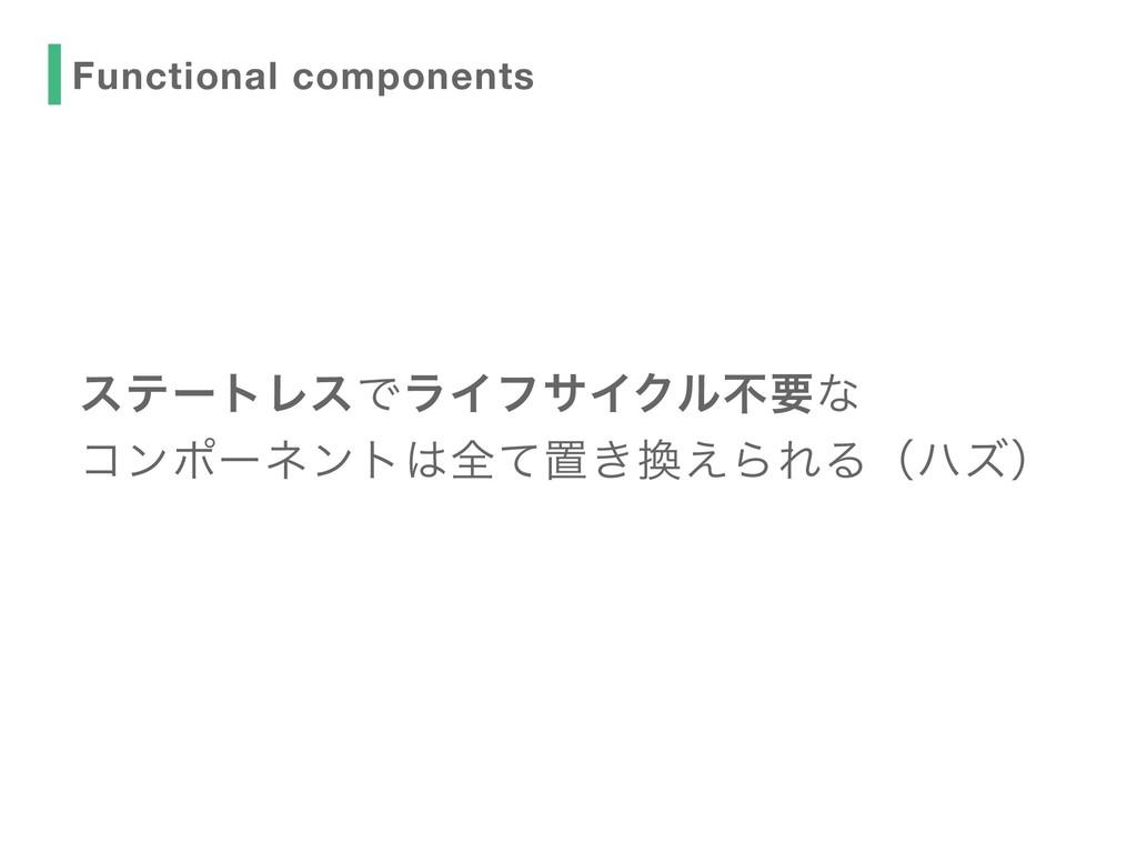 εςʔτϨεͰϥΠϑαΠΫϧෆཁͳ ίϯϙʔωϯτશͯஔ͖͑ΒΕΔʢϋζʣ Functi...