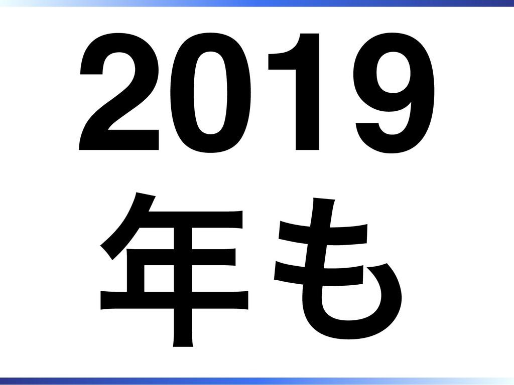 2019 年も