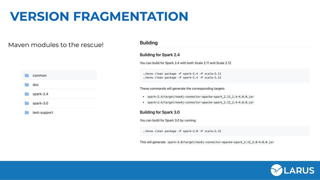 VERSION FRAGMENTATION Maven modules to the resc...