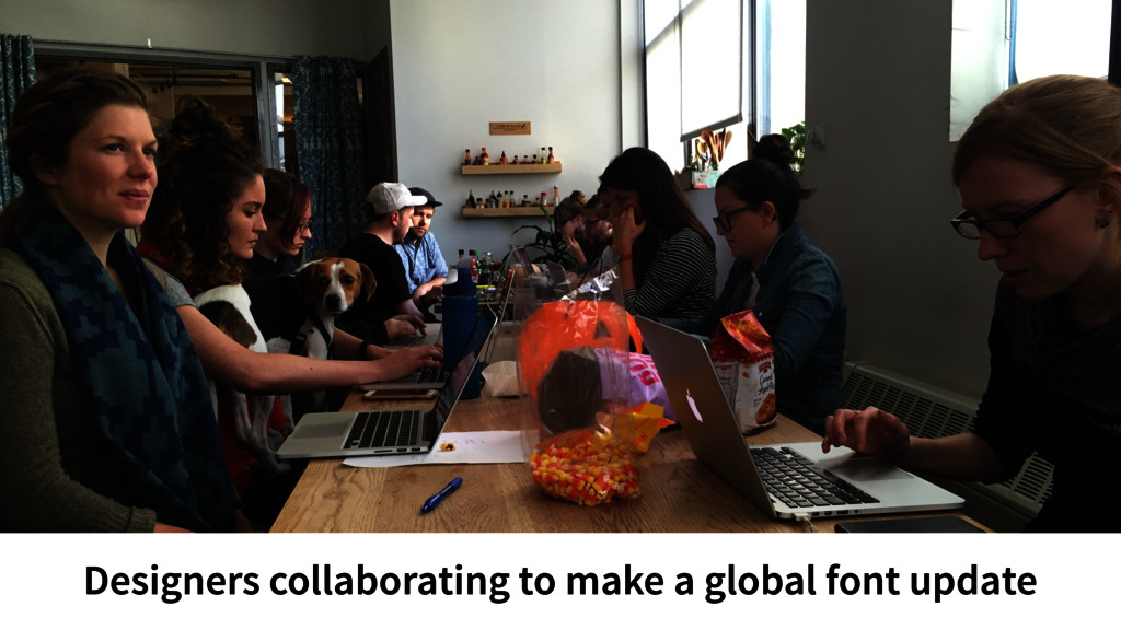 Designers collaborating to make a global font u...