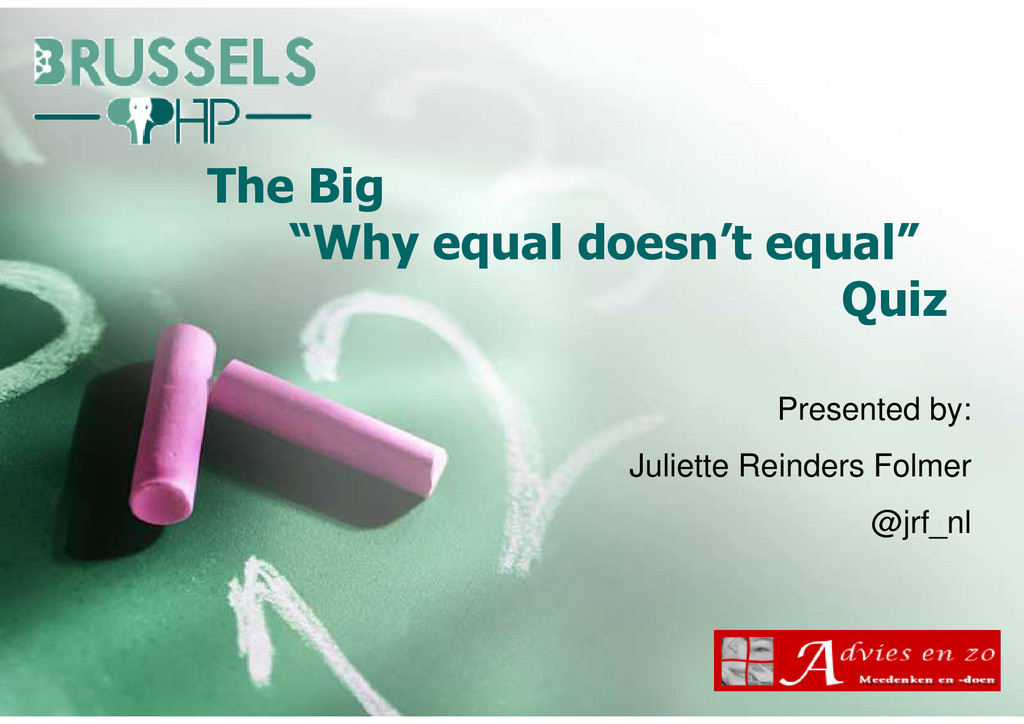 """The Big """"Why equal doesn't equal"""" Quiz Presente..."""