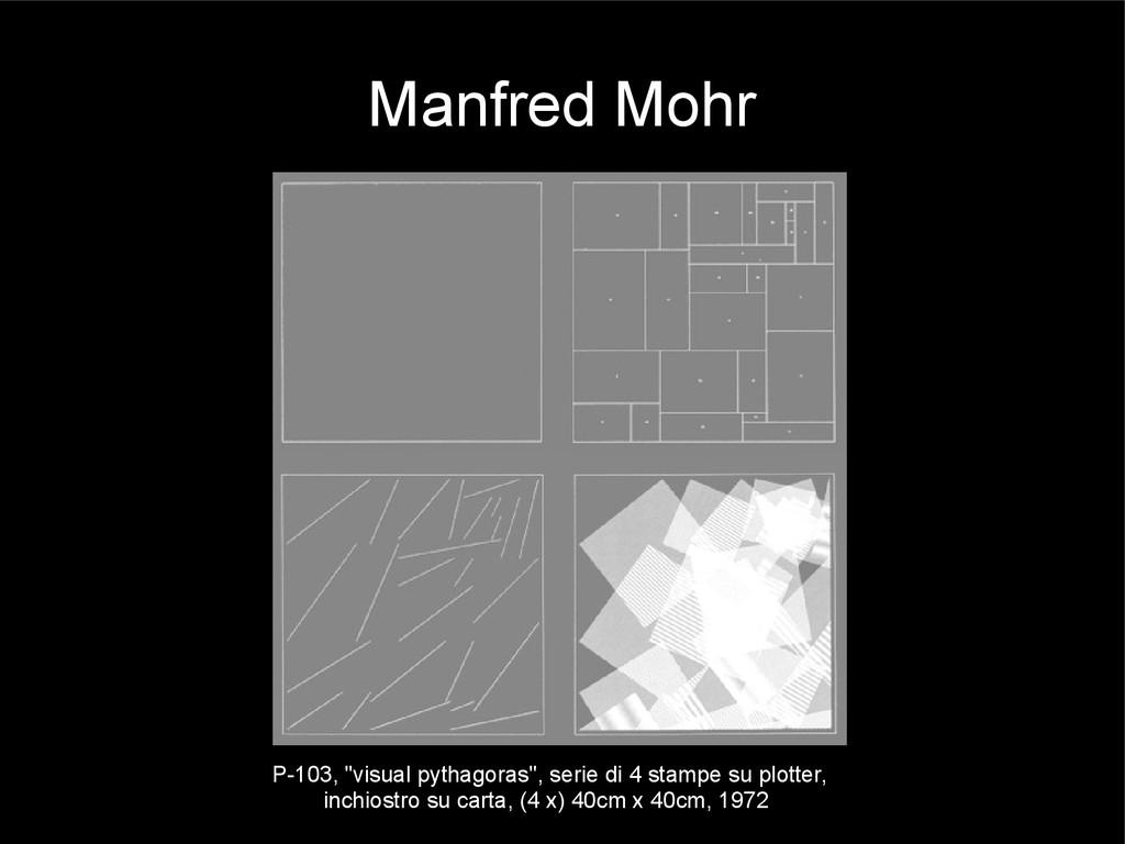 """Manfred Mohr P-103, """"visual pythagoras"""", serie ..."""