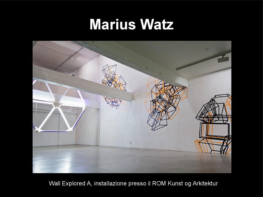 Marius Watz Wall Explored A, installazione pres...