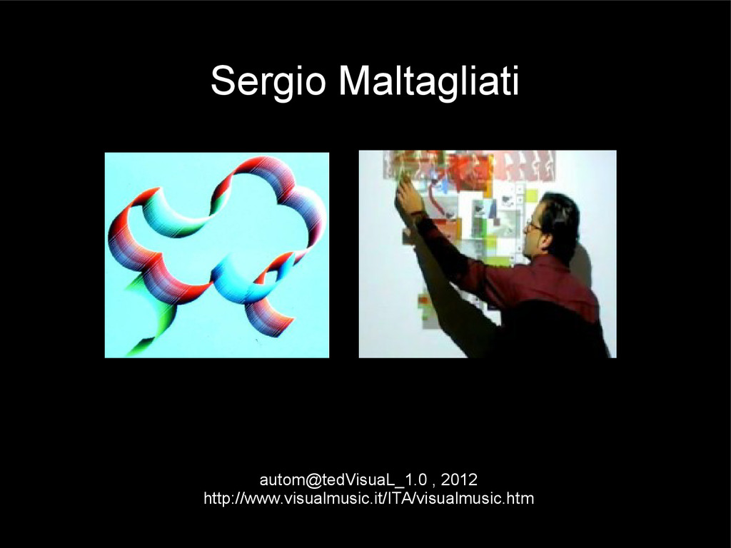 Sergio Maltagliati autom@tedVisuaL_1.0 , 2012 h...