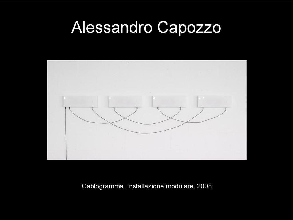 Alessandro Capozzo Cablogramma. Installazione m...