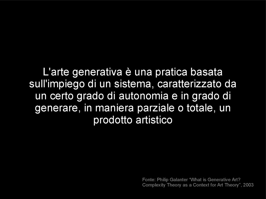 L'arte generativa è una pratica basata sull'imp...