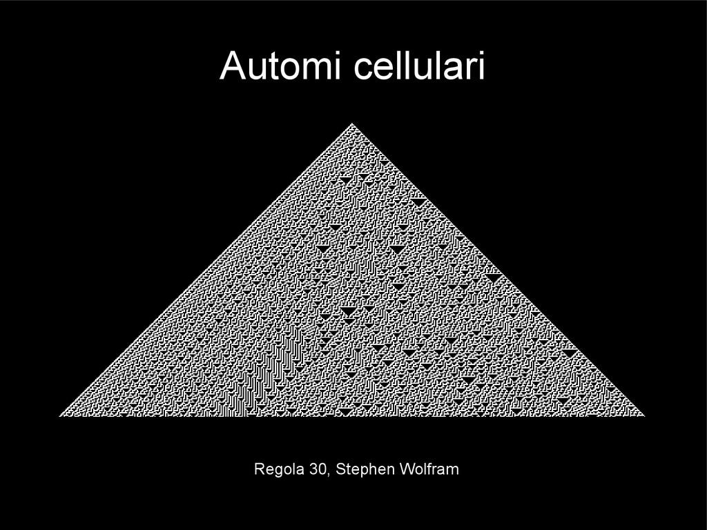 Automi cellulari Regola 30, Stephen Wolfram
