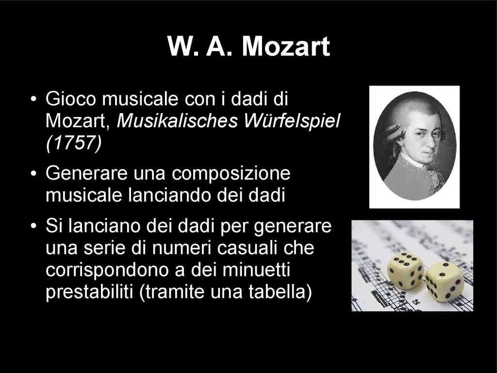W. A. Mozart ● Gioco musicale con i dadi di Moz...
