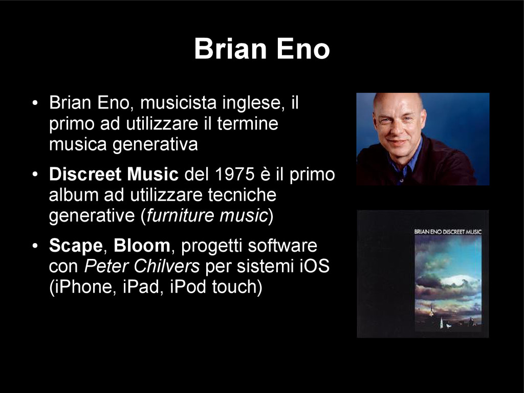 Brian Eno ● Brian Eno, musicista inglese, il pr...