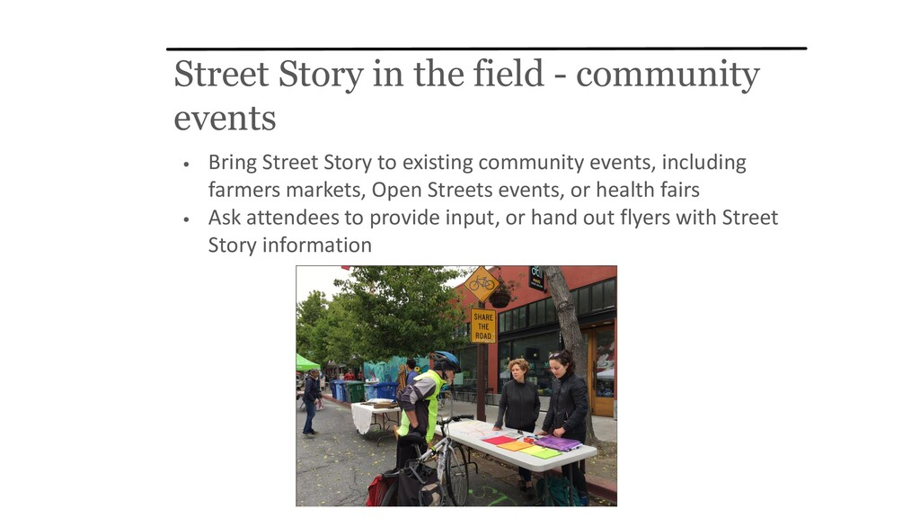 Street Story in the field - community events • ...