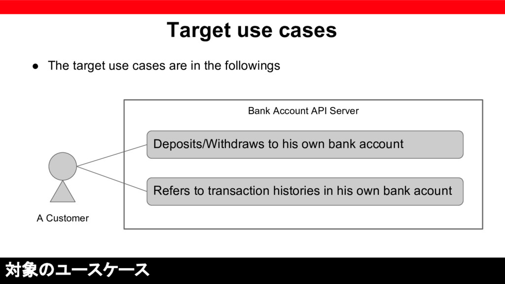 Bank Account API Server Target use cases ● The ...