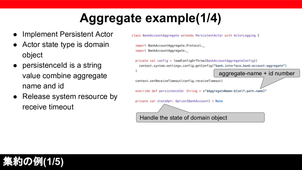 Aggregate example(1/4) ● Implement Persistent A...