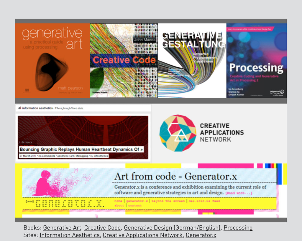 Books: Generative Art, Creative Code, Generativ...