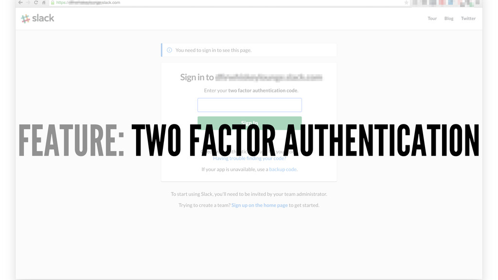 FEATURE: TWO FACTOR AUTHENTICATION