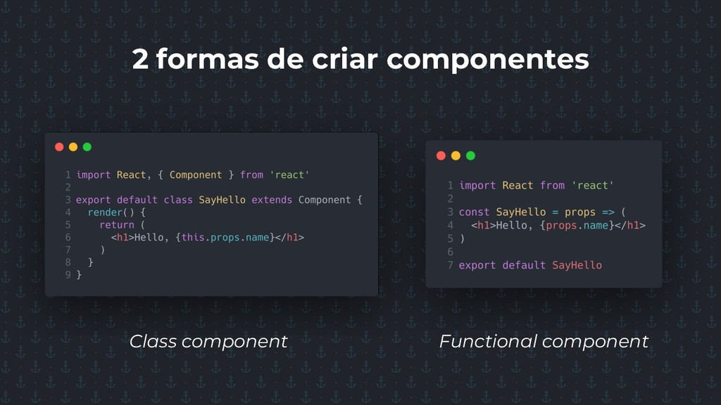 2 formas de criar componentes Class component F...