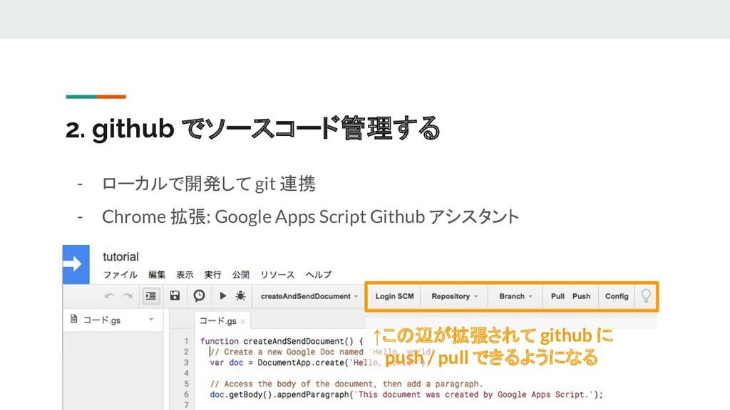 2. github でソースコード管理する - ローカルで開発して git 連携 - Chro...