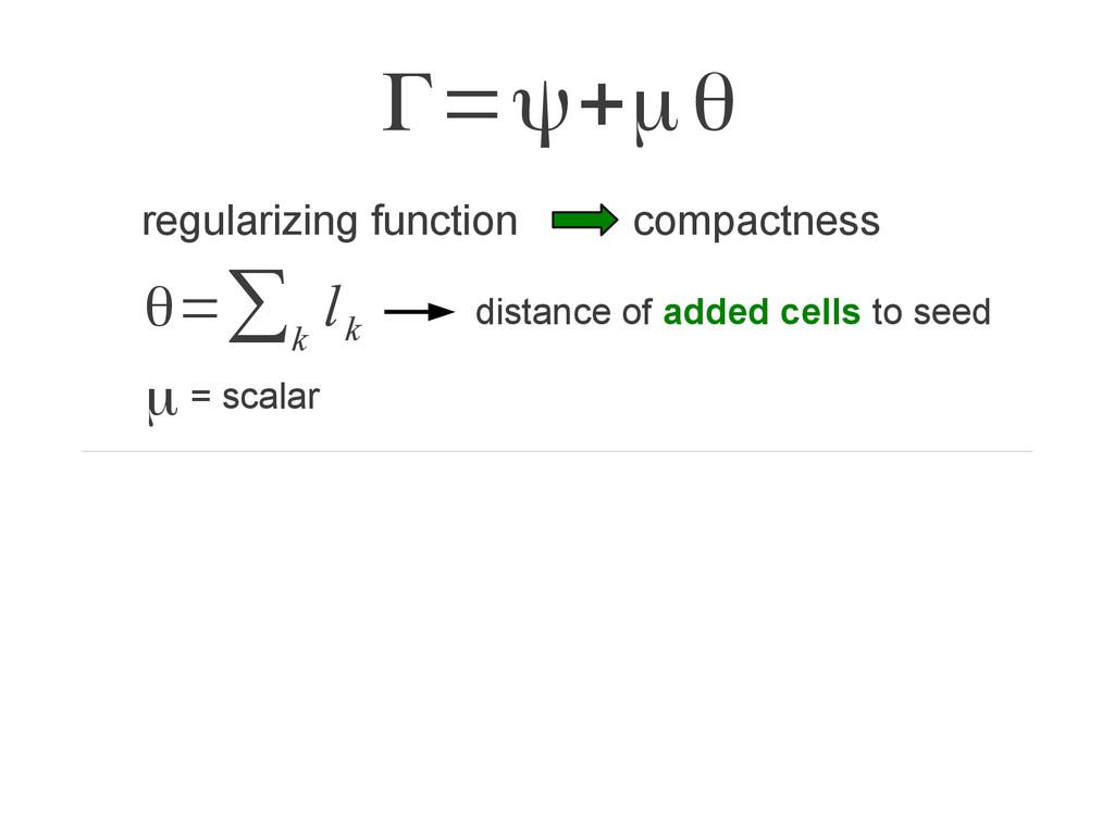 Γ=ψ+μθ θ=∑ k l k regularizing function compactn...