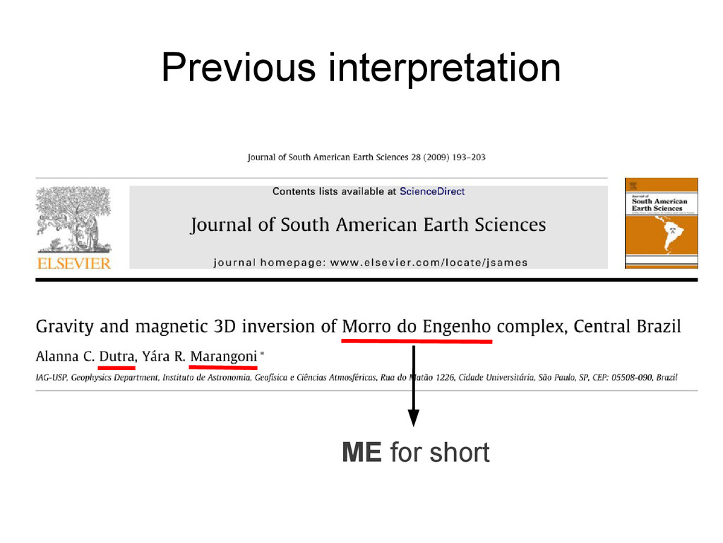 Previous interpretation ME for short