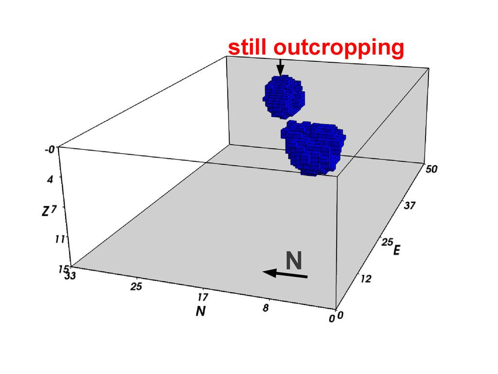 N still outcropping